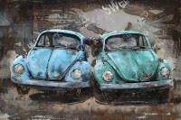 Handgefertigtes Metallbild Beetle ca. 120x80 cm