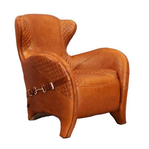 Designsessel Whitehorse aus Vintage-Leder