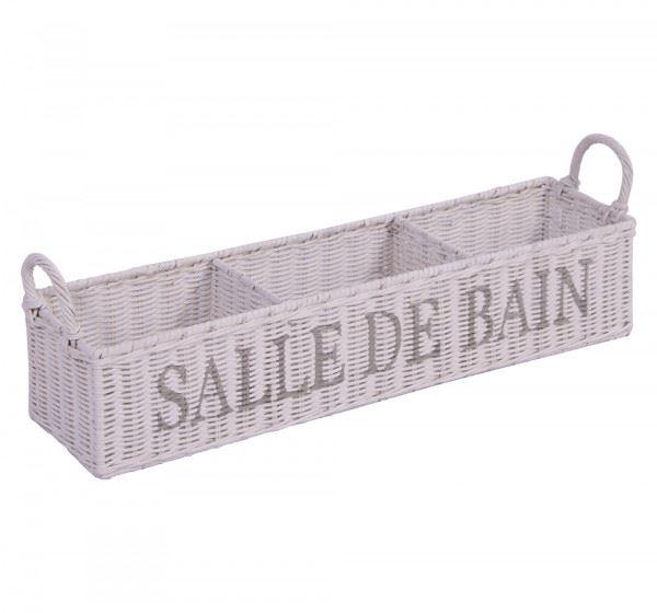 Aufbewahrungsbox Salle de Bain weiß